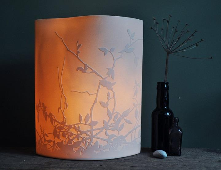 Amy Cooper Ceramics - floral light