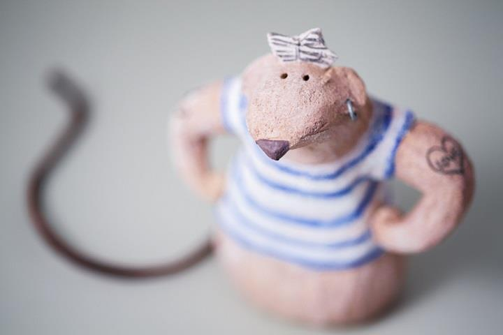 Ana Bossa - ceramic rat toy