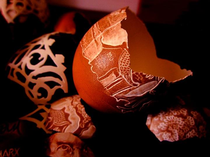 Ben Tre Eggshell - carvings