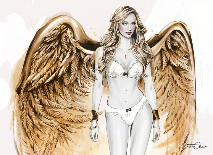CRISTINA ALONSO Victorias Secret Gilded Angel