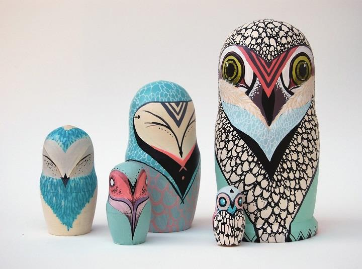 Caleigh Ill - colorful owls