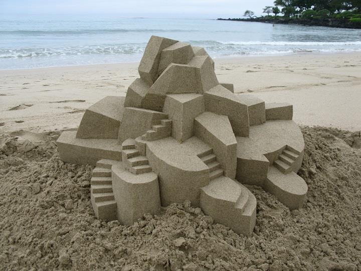 Carl Jara - beach sculpture