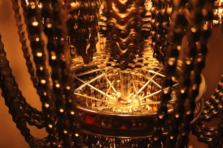 Carolina Fontoura Alzaga - Recycled Bicycle Chandeliers
