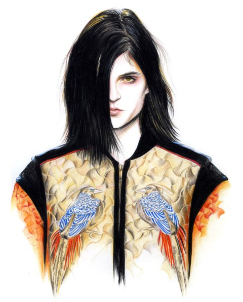 Caroline Andrieu's Fashion Illustrations