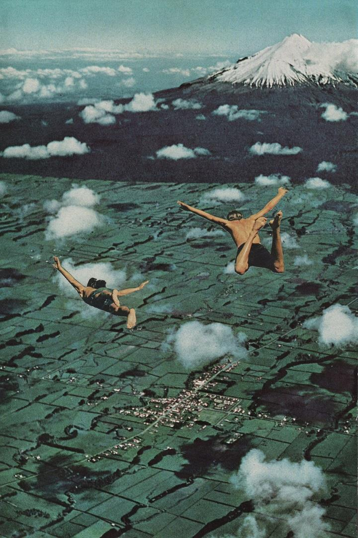 David Delruelle - flying collage
