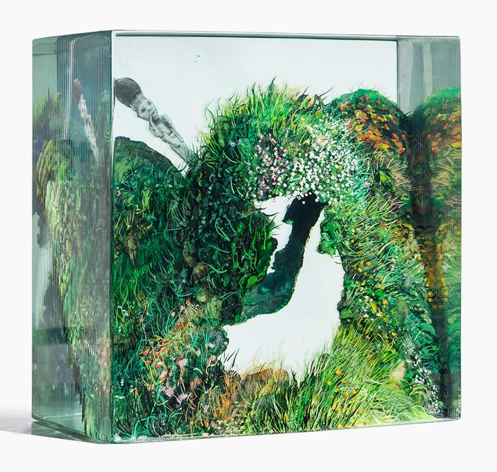 Dustin Yellin aishas-meadow-cave