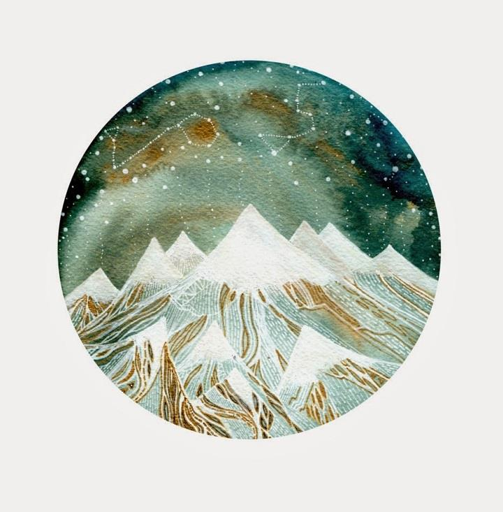 Elisa Mahan - snowy mountains