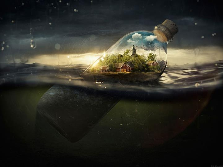Erik Johansson - bottle