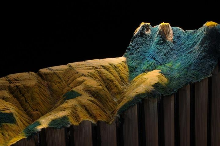 Guy Laramée - Carved Book Landscapes