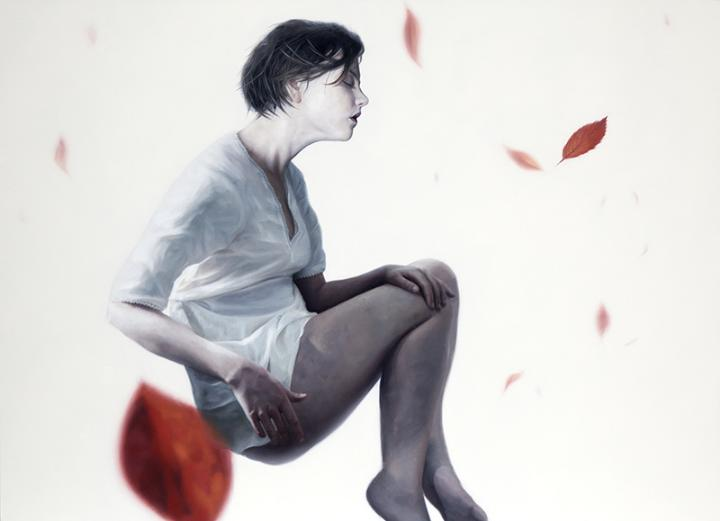 Henrik Uldalen - woman and leaves
