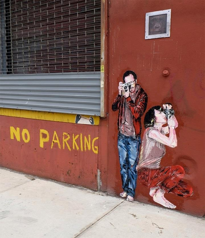 Jana & JS - no parking street art