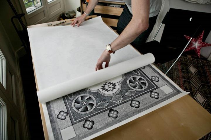 Jonathan Bréchignac - carpet drawing paper