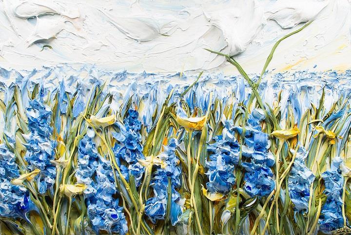 Justin Gaffrey - blue flowers