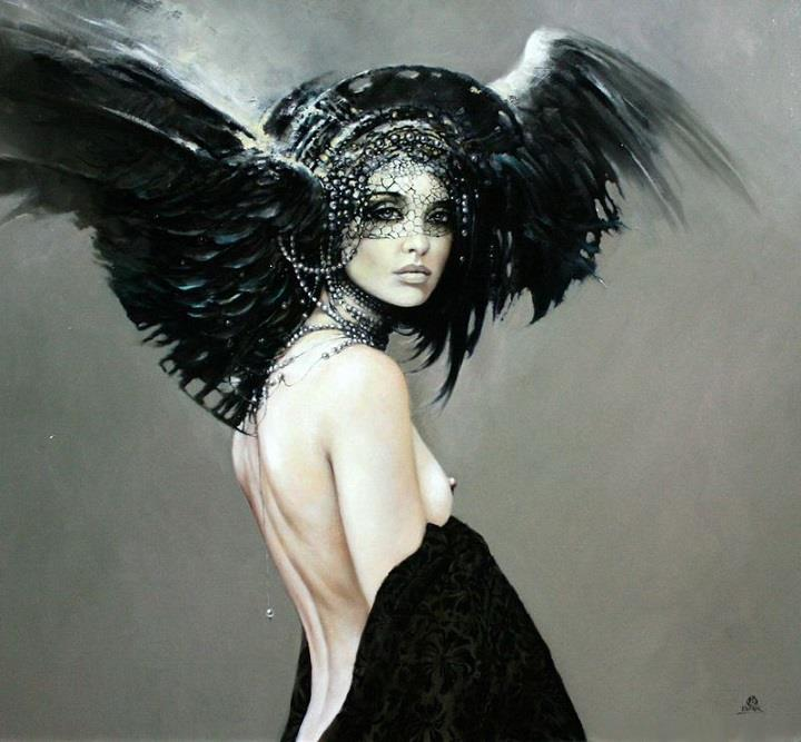 Karol Bak - headdress