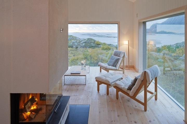 Kolman Boye Architects - Vega Cottage fireplace