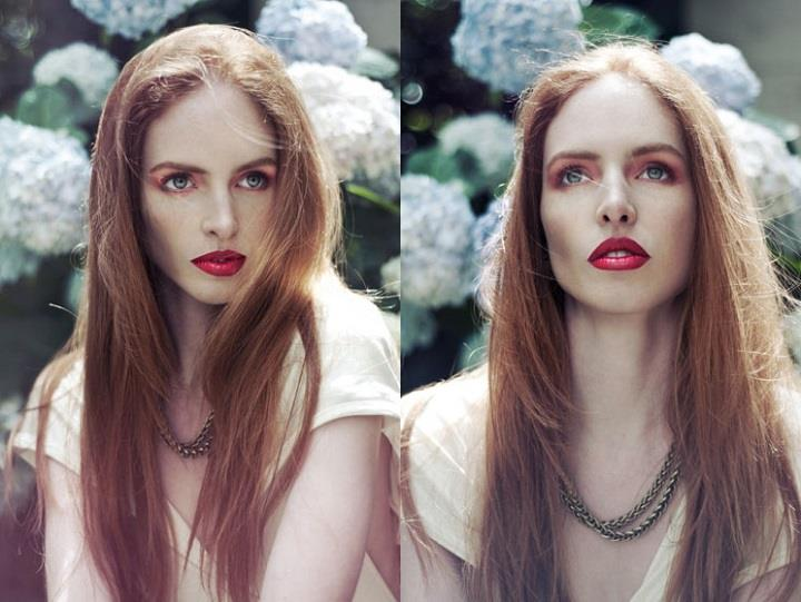 Lucie Eleanor - makeup and long hair