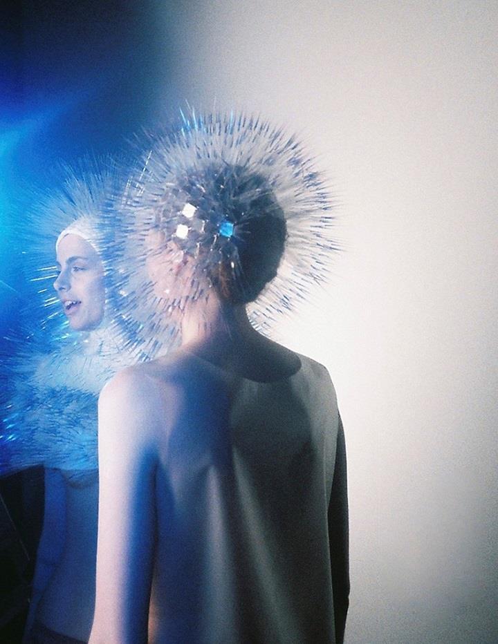 Maiko Takeda - blue fashion