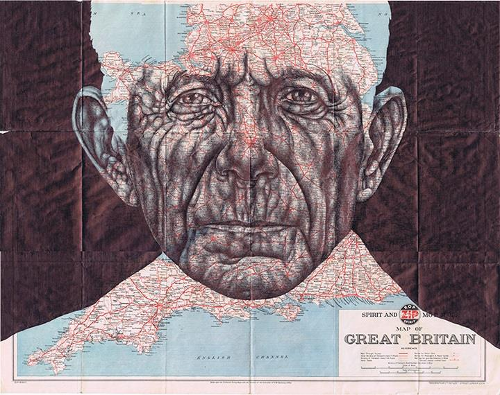 Mark Powell - Drawings on Antique Documents