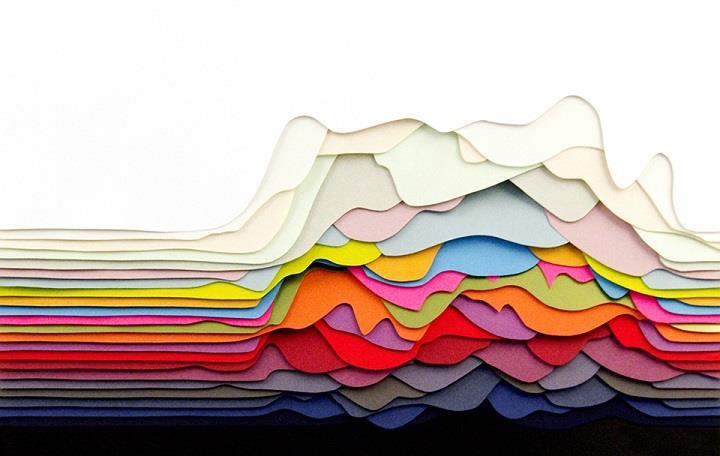 Maud Vantours - Hypnotizing 3D Paper Patterns