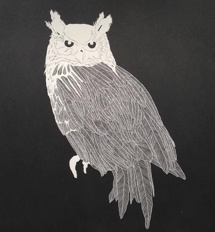 Maude White - owl