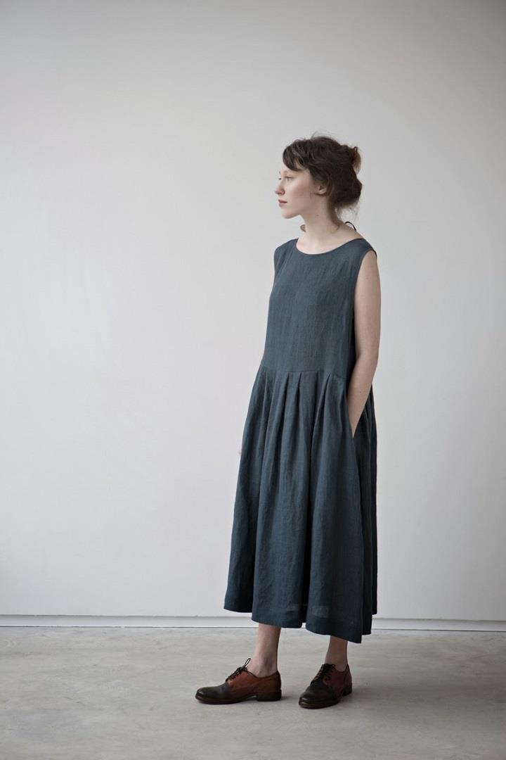 Muku - long blue dress SS14