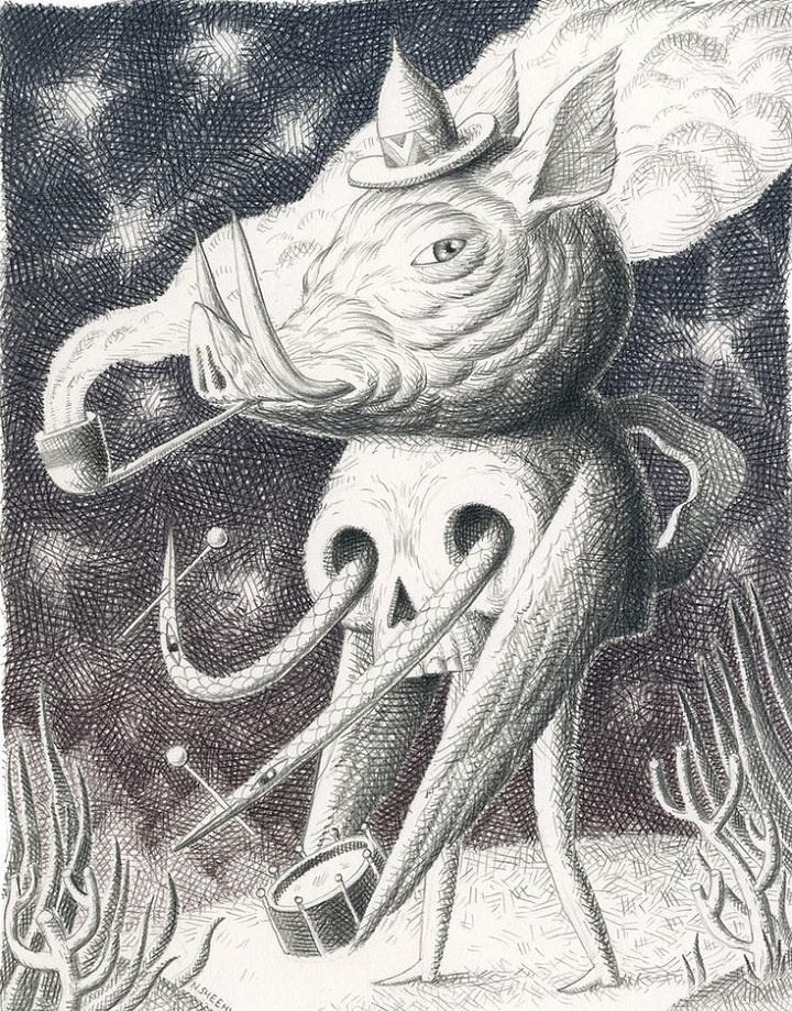 Nick Sheehy - pig and skull