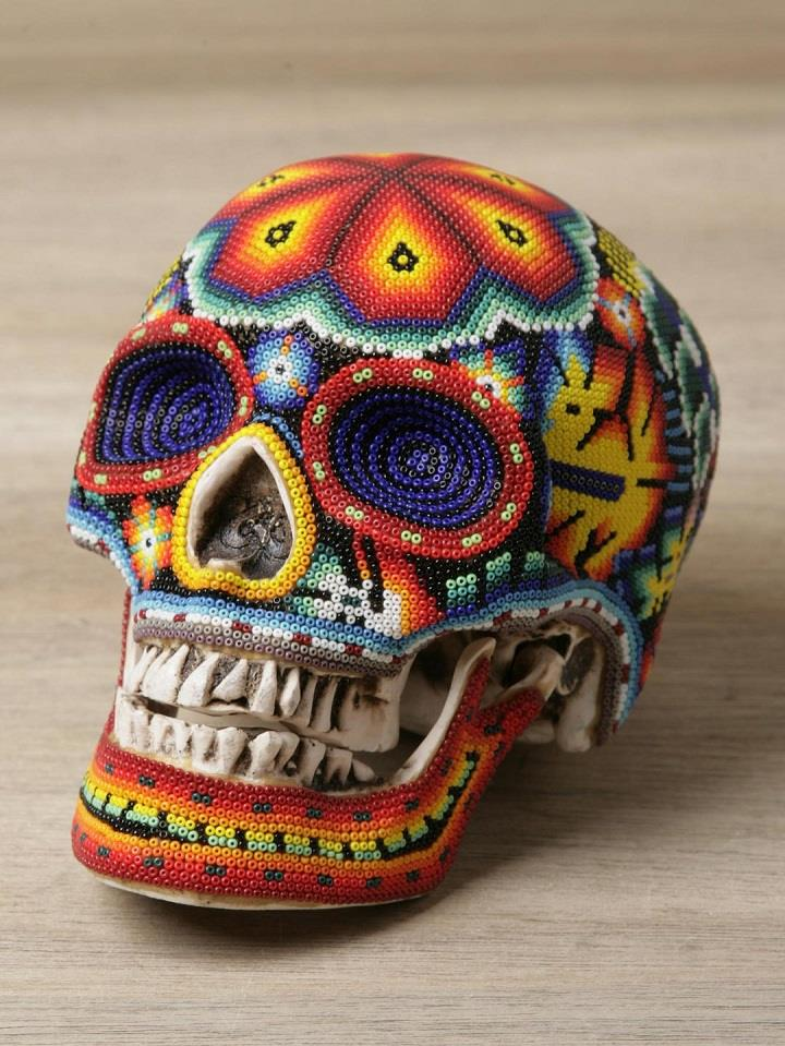 Our Exquisite Corpse - beaded kull