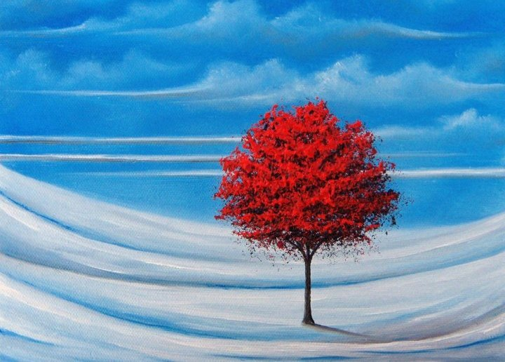 Rachel Bingaman - a tree in snow