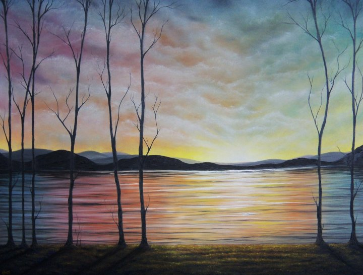 Rachel Bingaman - sunset lake