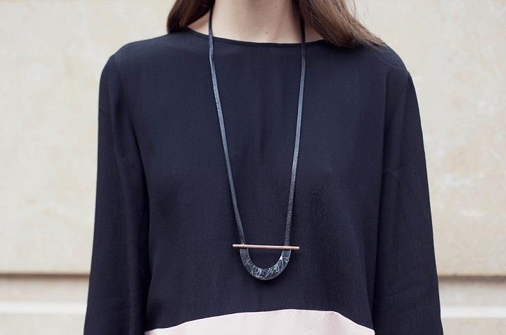 RillRill Jewelry - long black necklace