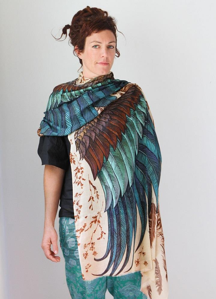 Shovava - Roza Khamitova - wings scarf colorful