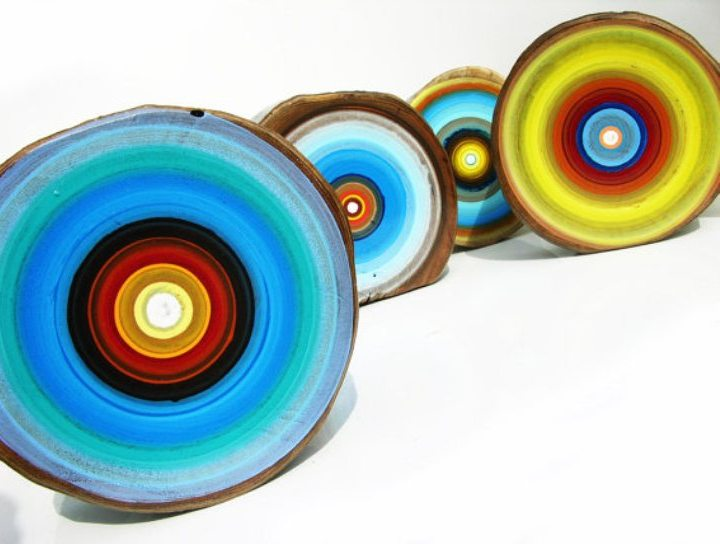 Tracy Melton - Colourful Tree Rings