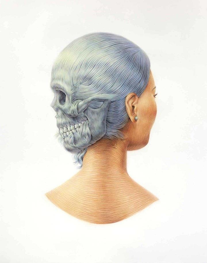 Winnie Truong - skull hairstyle