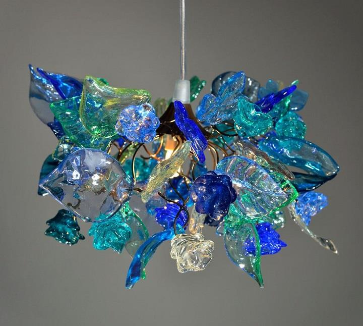 Yehuda Ozan Lighting - blue chandelier