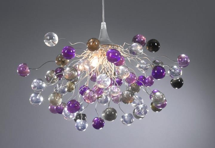 Yehuda Ozan Lighting - violet bubbles chandelier