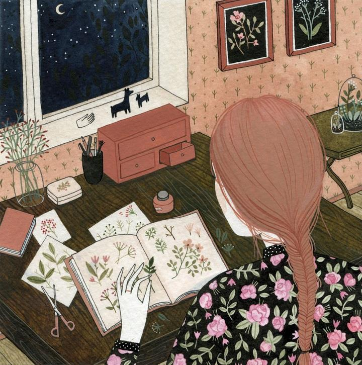 Yelena Bryksenkova - flowers in book