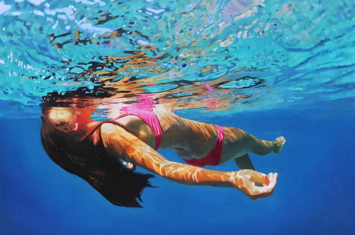 Matt Story - Hyperreal Underwater Paintings